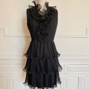Dresses & Skirts - Vintage 60s Structured Ruffled Tiered Dress